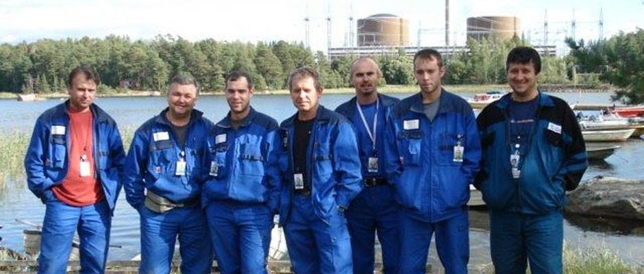 Tím PPA Energo s jadrovou elektrárňou v pozadí